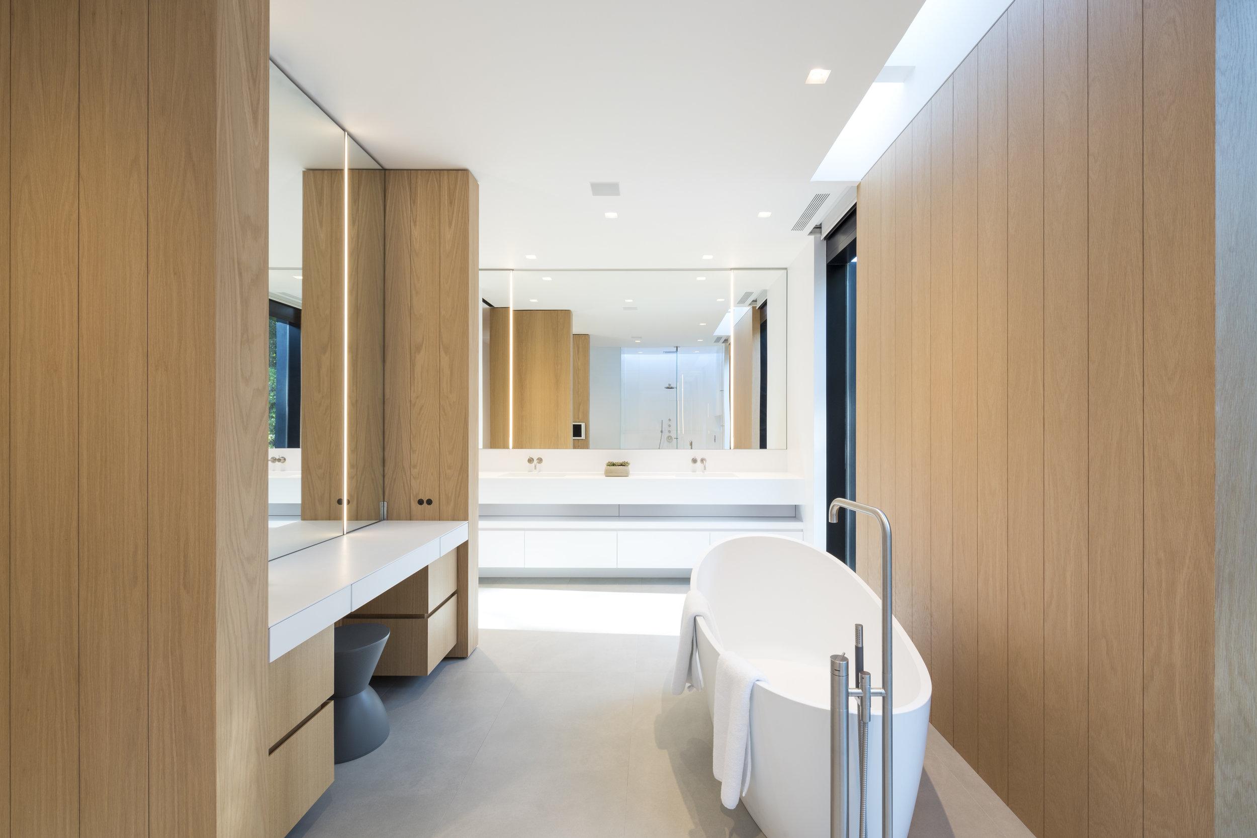Private luxury custom master bathroom