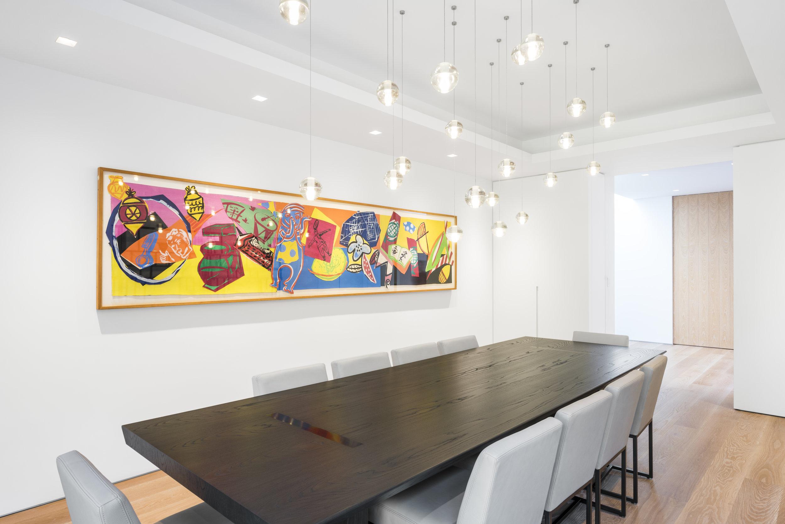 Clean Modern luxury dining room