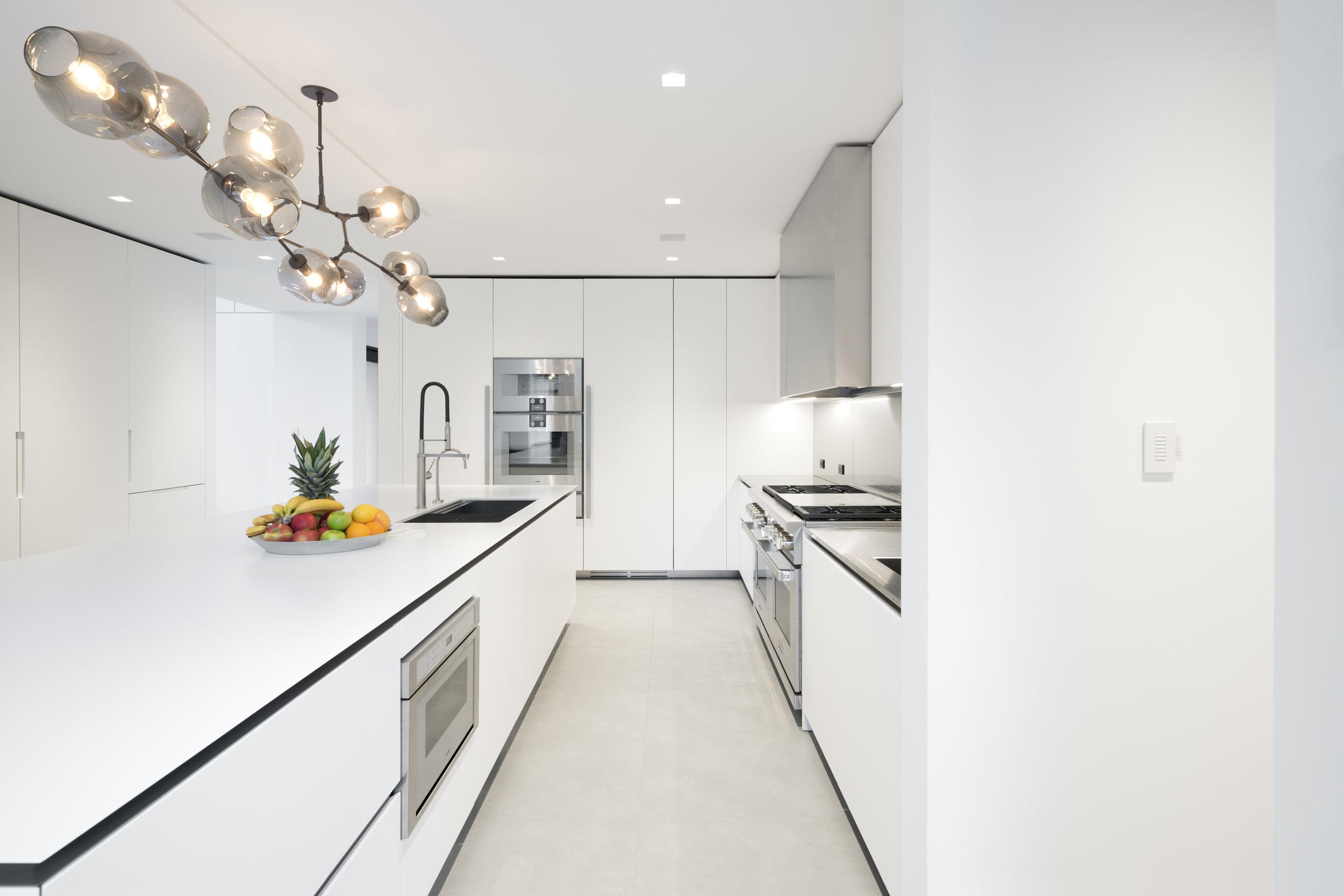 Beautiful white kitchen modern luxury home