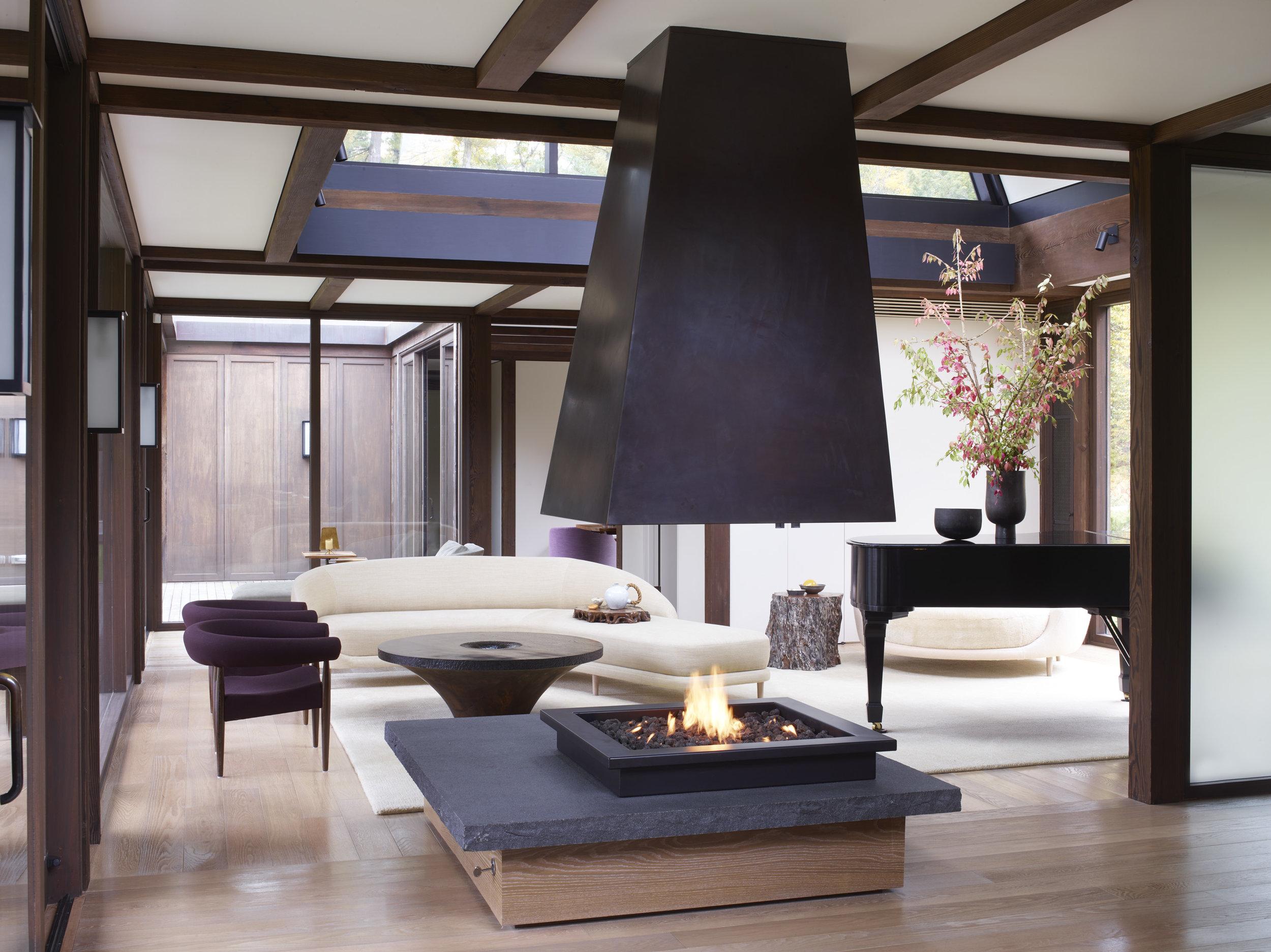 interior fireplace chimney unique