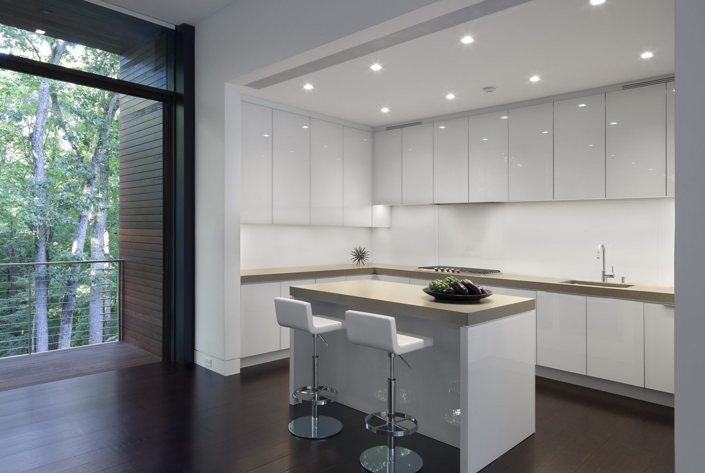 glass clad cabinets beautiful clean white kitchen