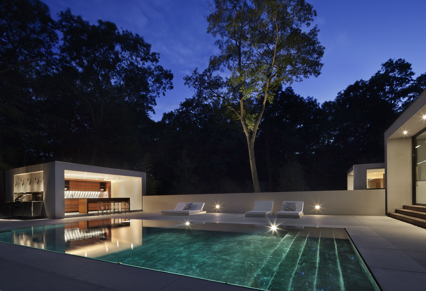 amazing award winning pool and outdoor kitchen