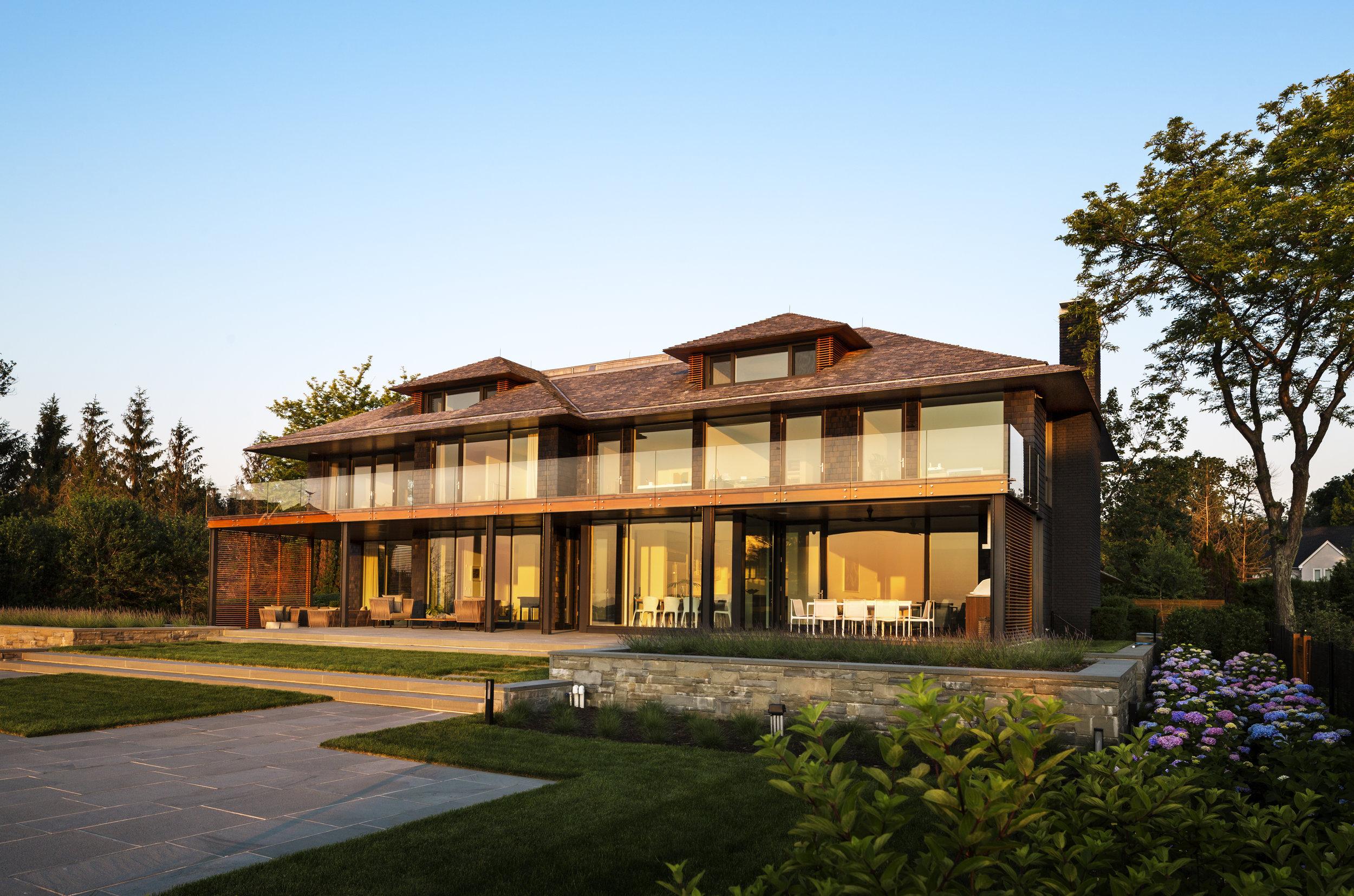 quiet greenwich waterfront luxury custom home builders