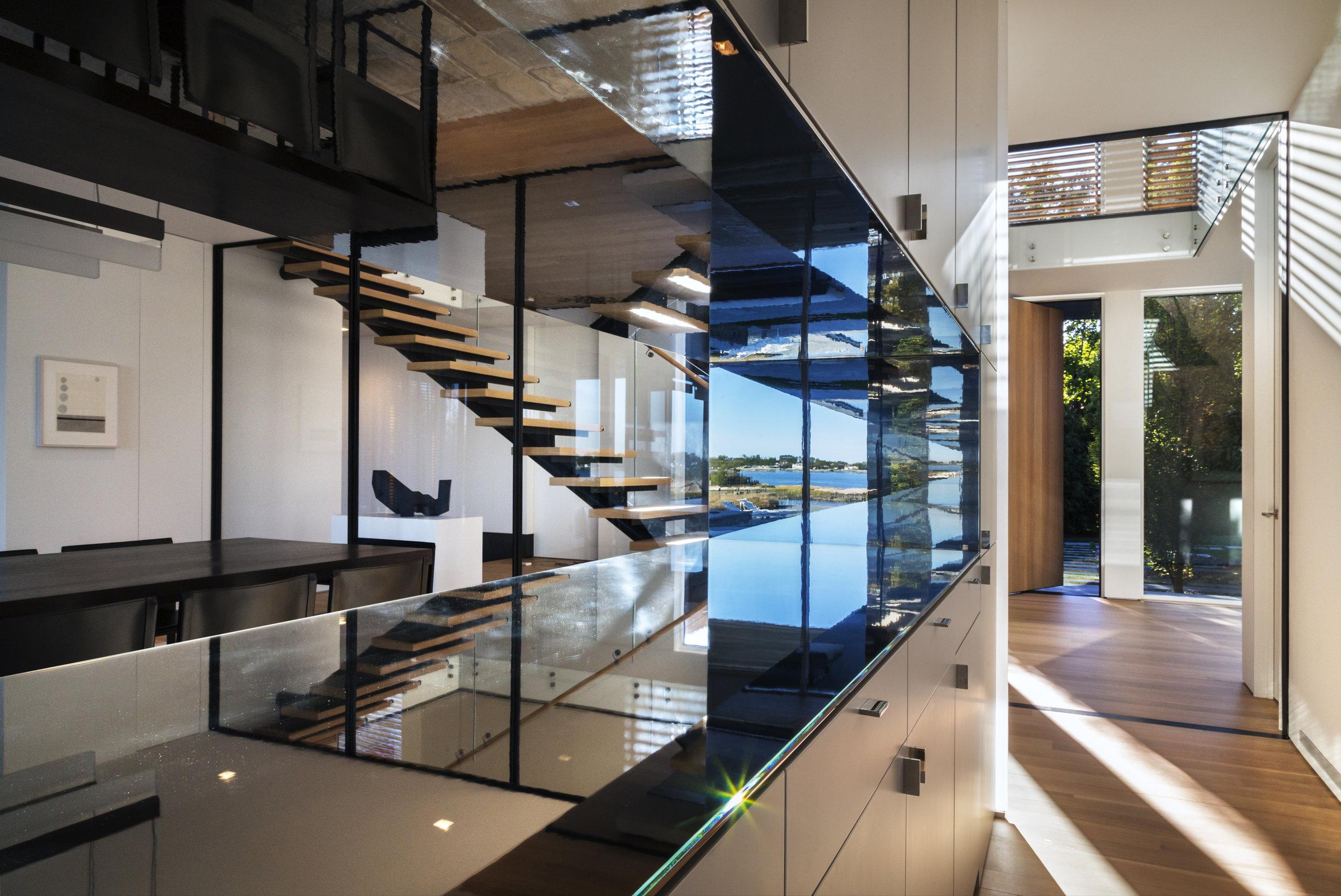 art reflection bar staircase beautiful greenwich CT