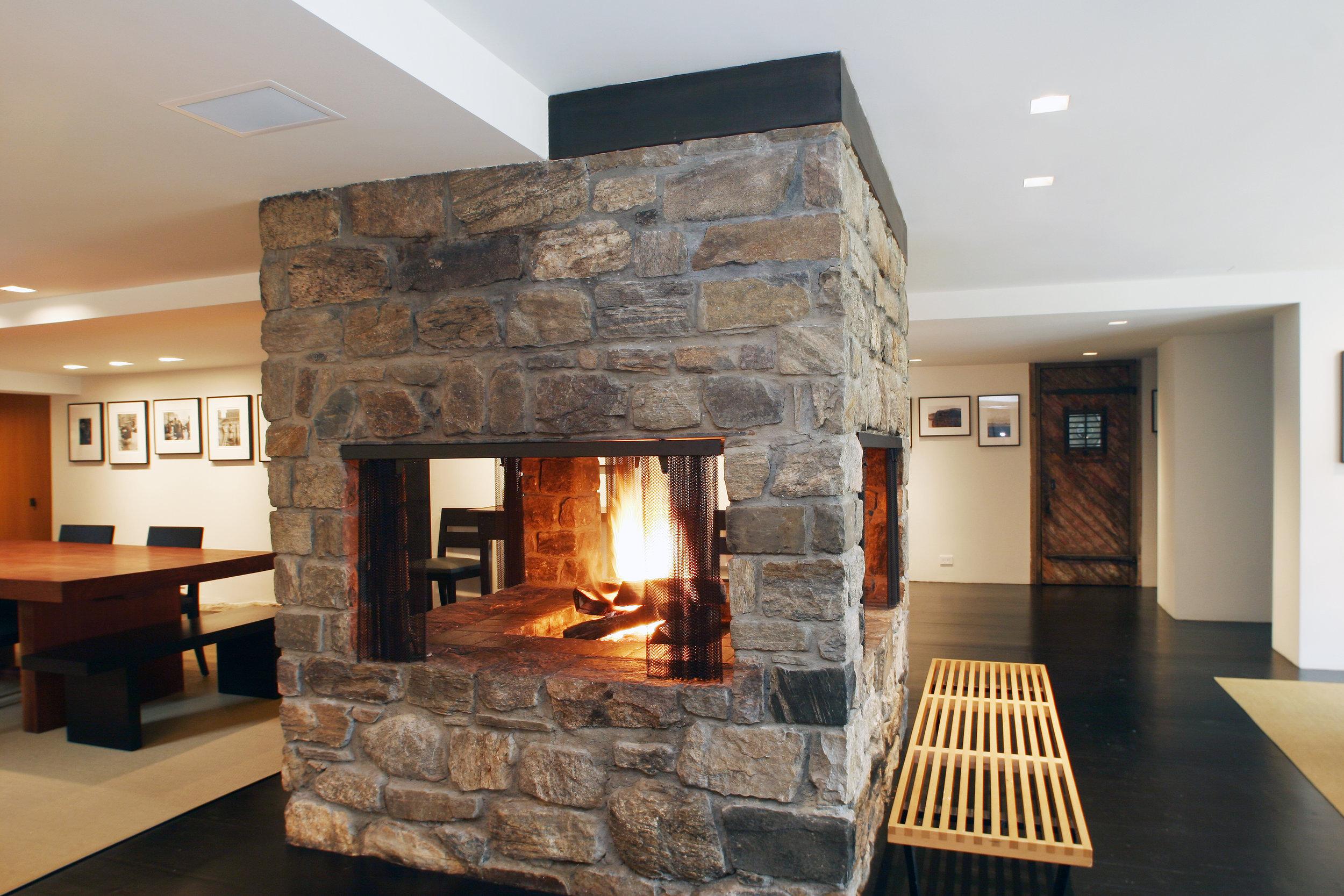 indoor fireplace stone custom