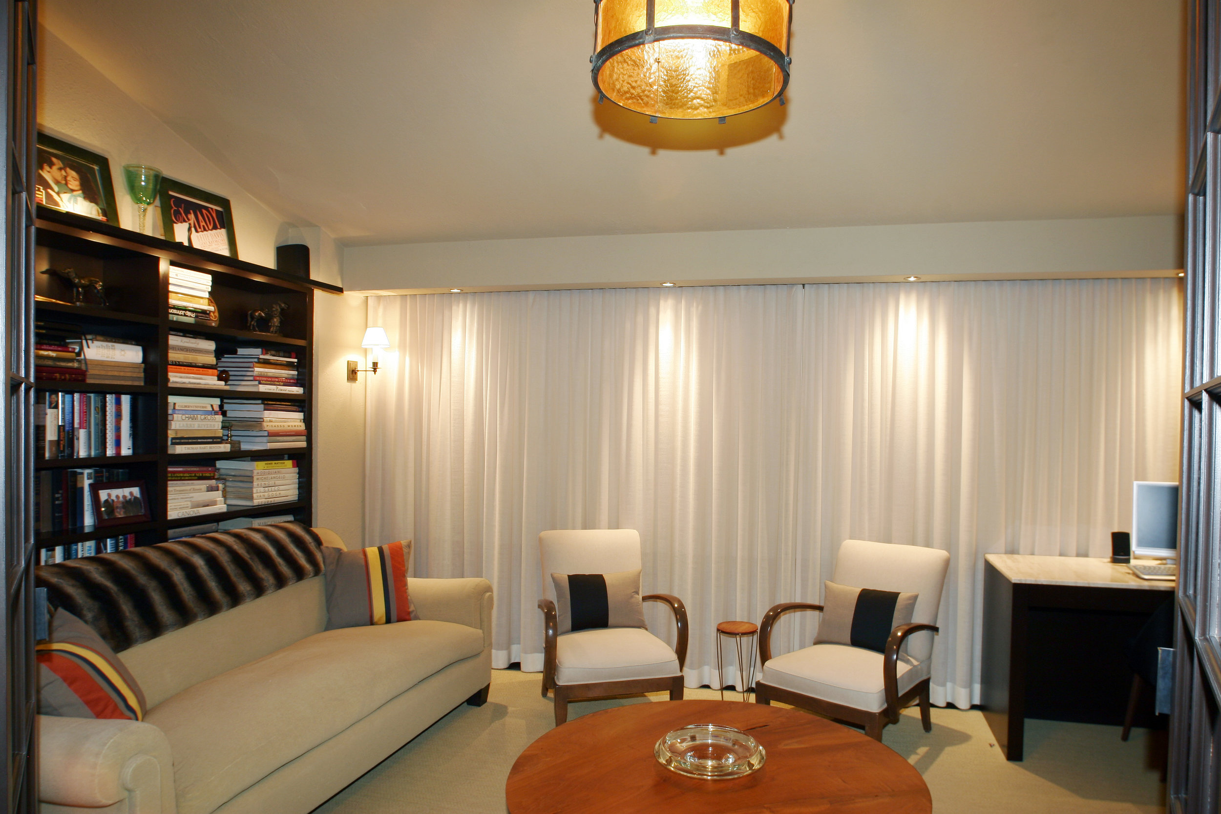 relaxing living room white couch leather