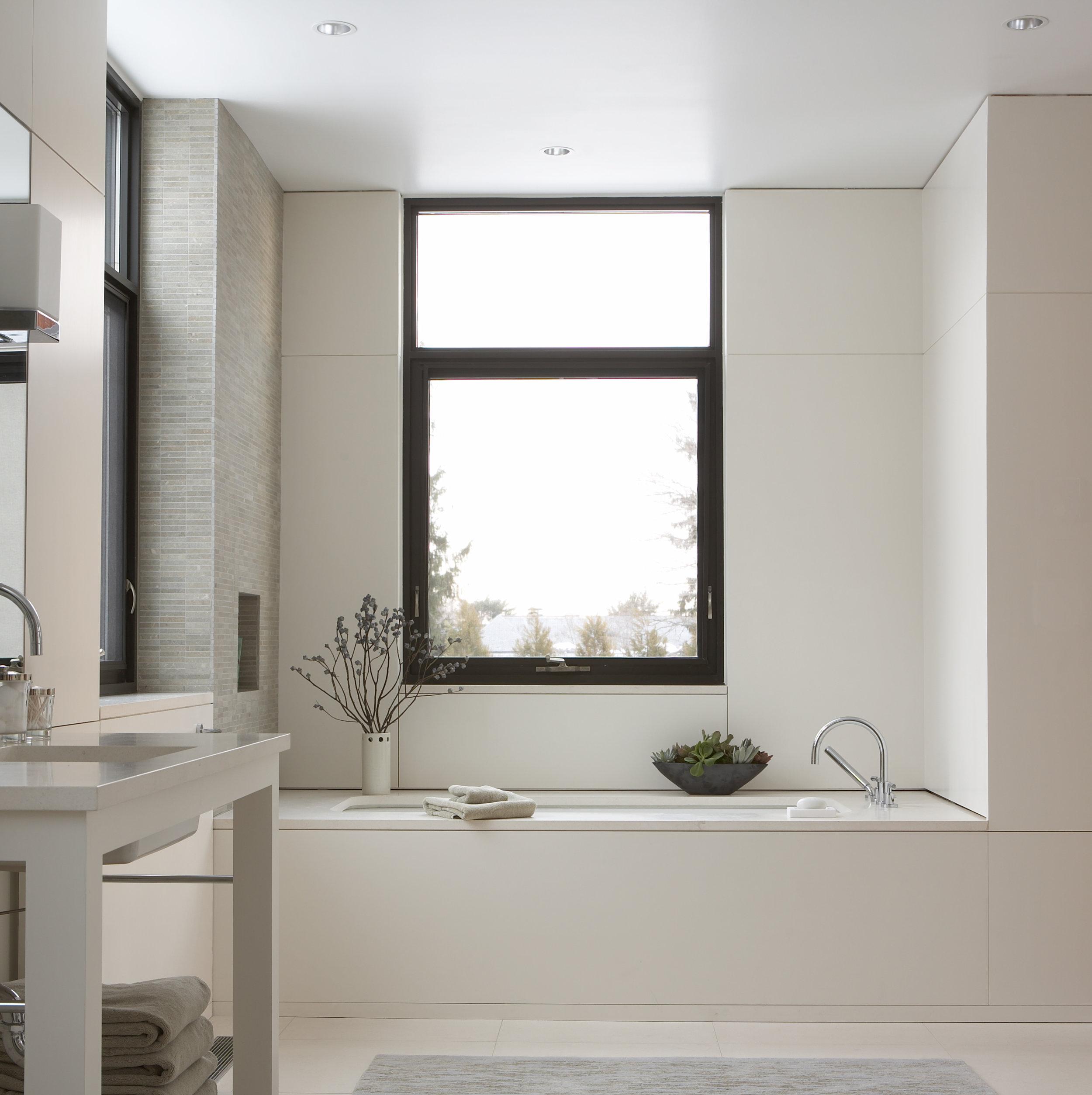 creative luxury bathtub natural light