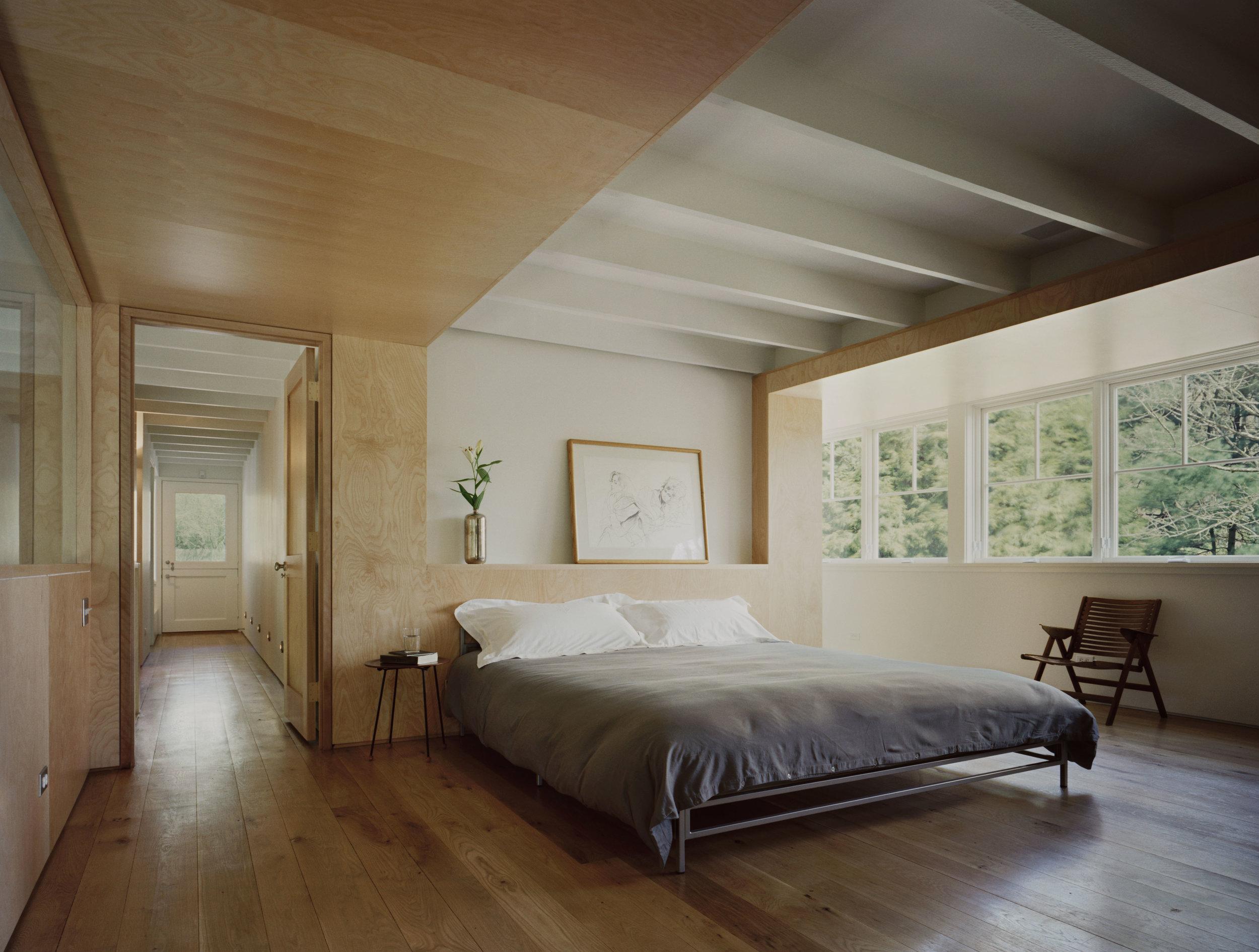 relaxing custom luxury bedroom large open windows space