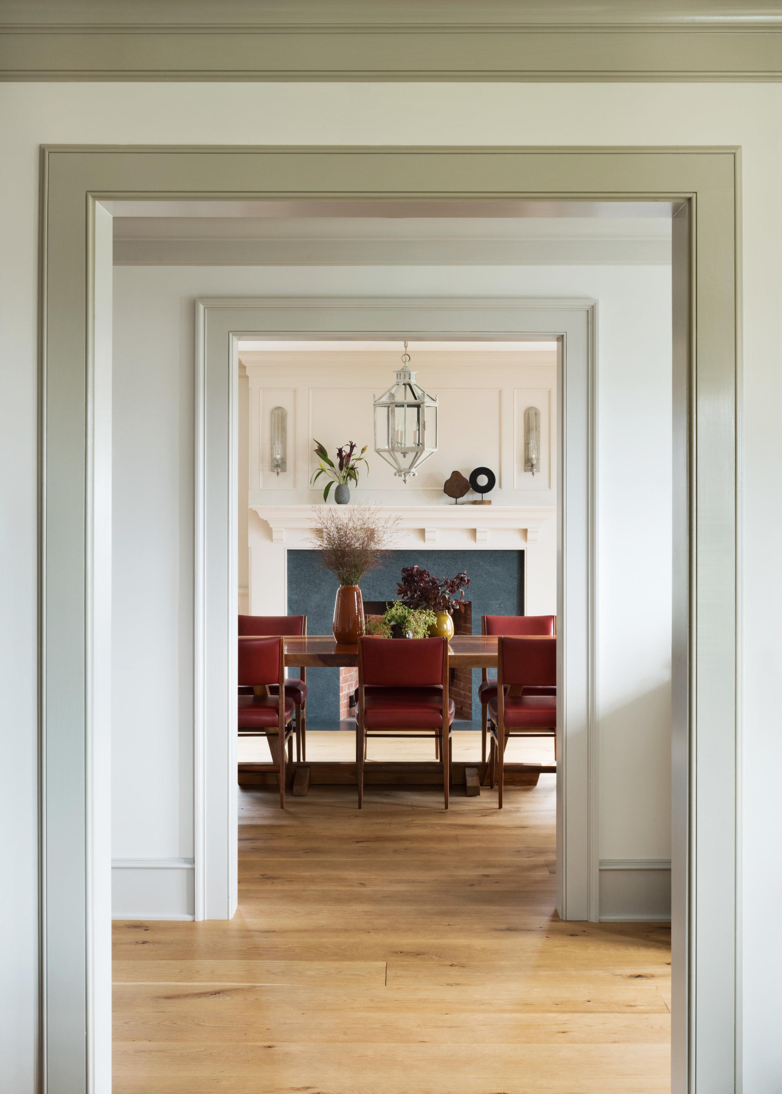 clean white hallway passageway