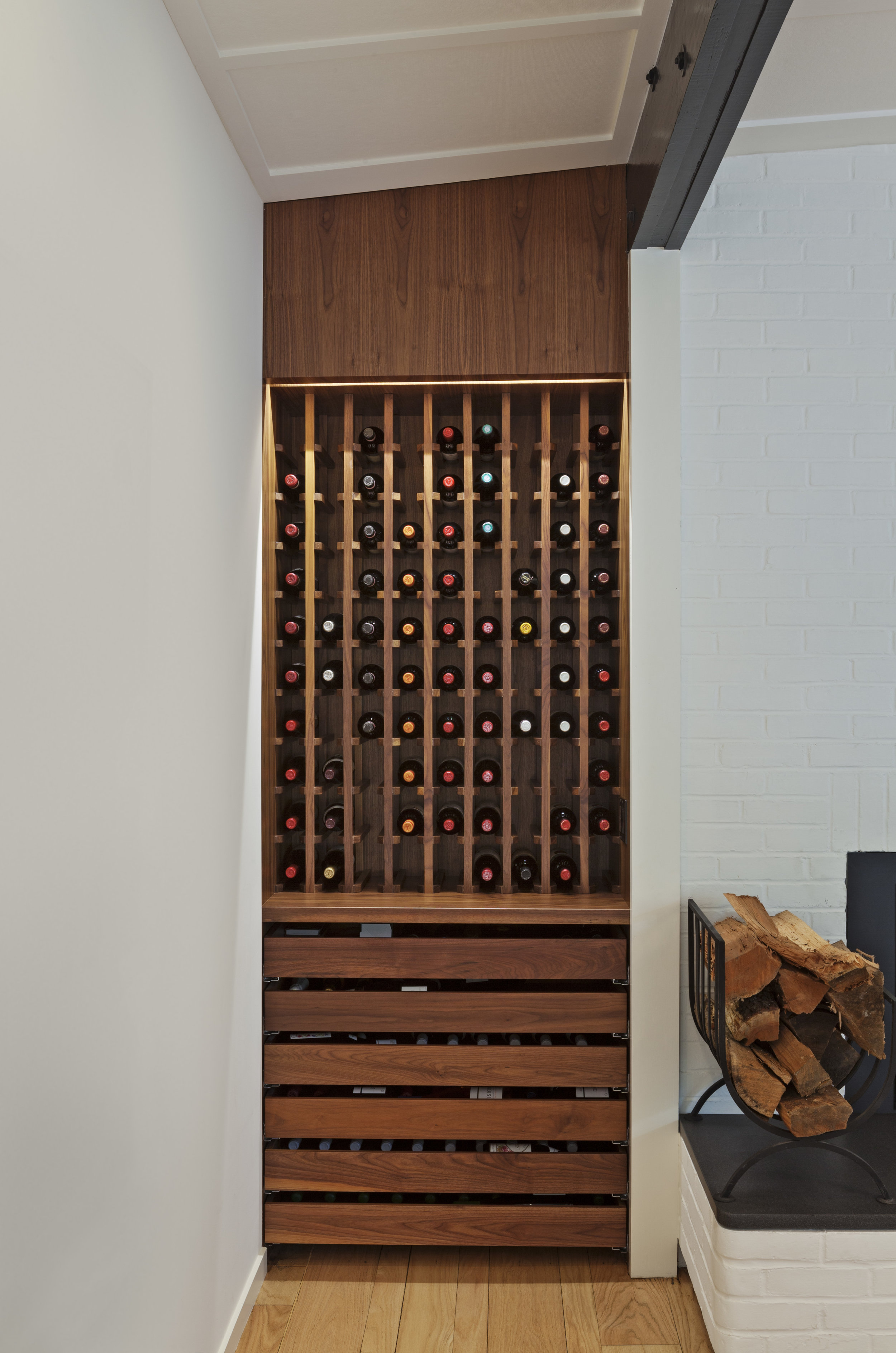 custom craftsman millwork wine rack