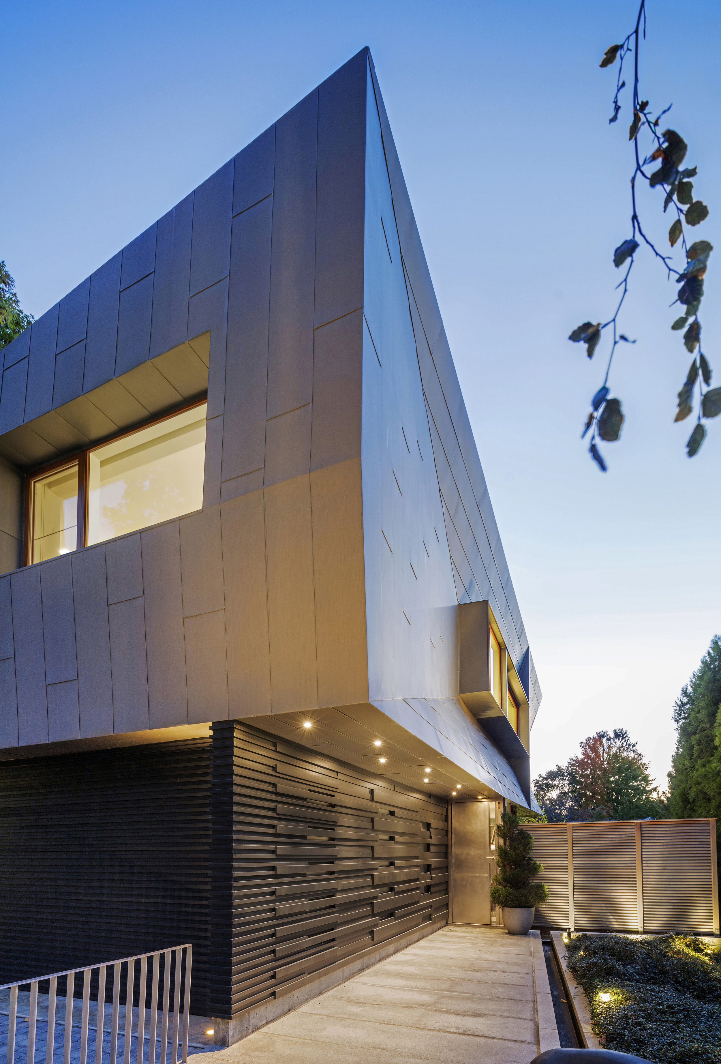 modern architecture design sharp geometric angles