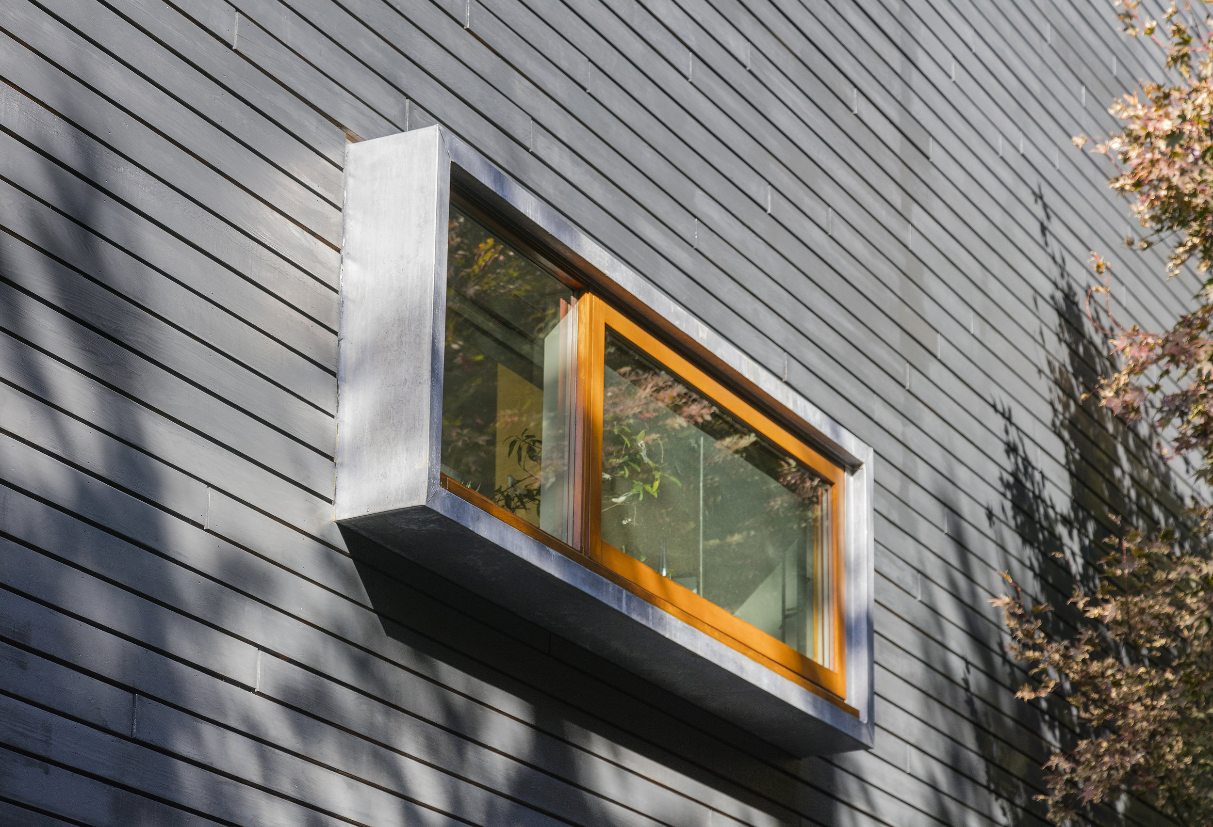 extruded sliding window modern architecture design in fairfield county ct