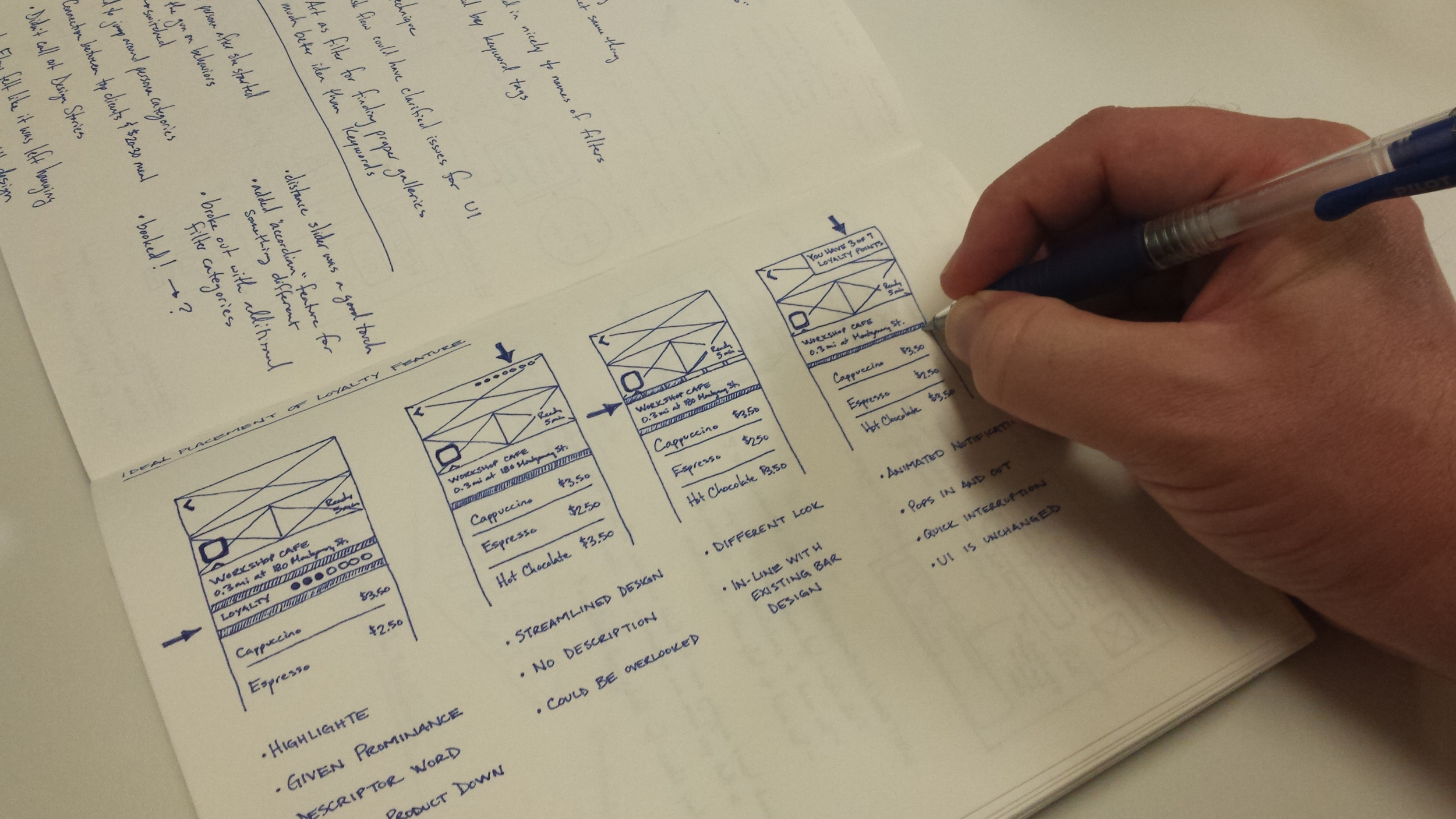 Holding the pen so close to the page provides the control necessary for very detailed drawings.
