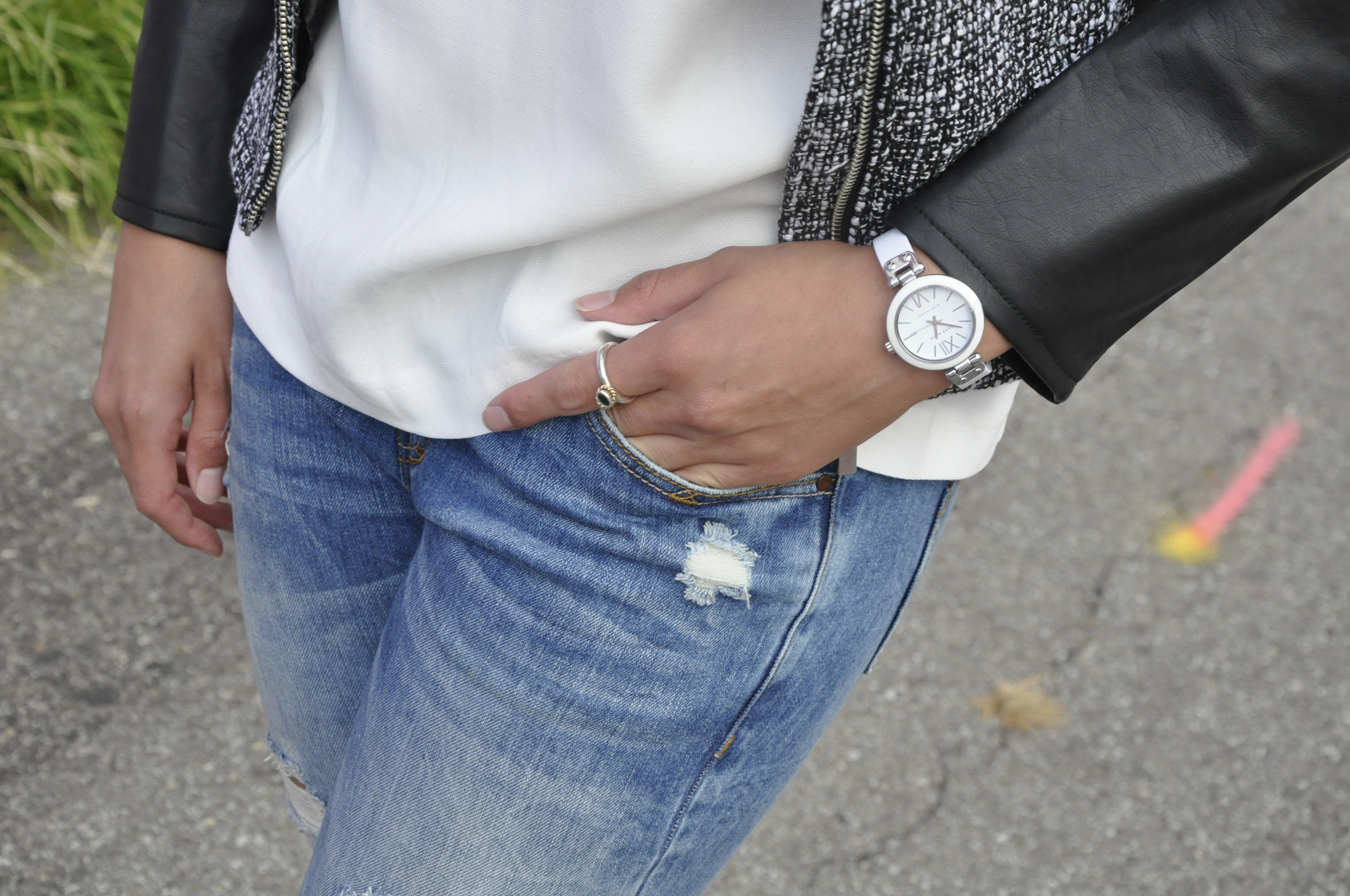 This watch was given to me by my cousins as a graduation gift in high school. To this day, it is one of my favorite jewelry items! It is simple and white, allowing me to wear it with many different outfits. the style of this Anne Klein beauty is a classic that will never go out of style.