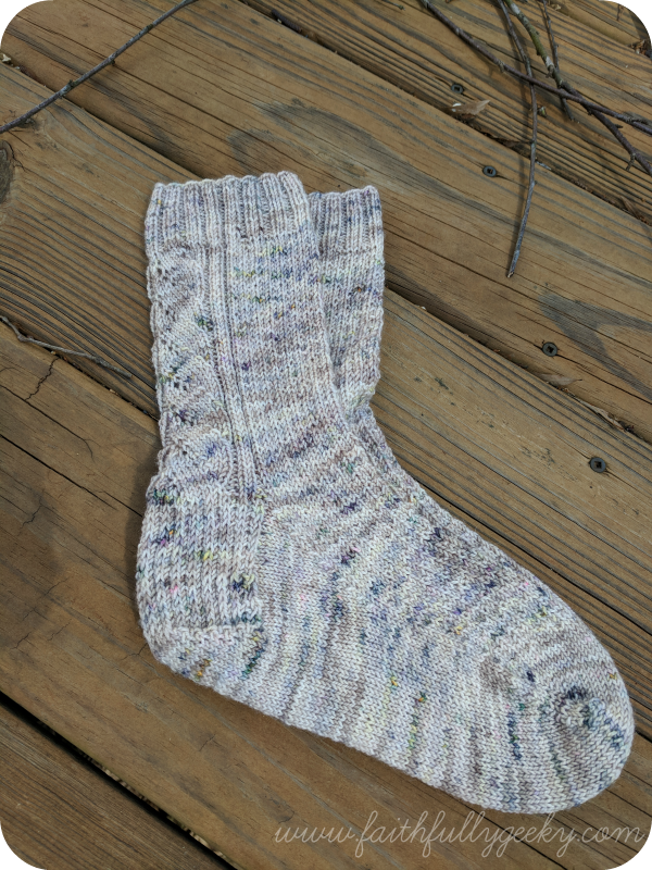 Pattern:  Obliviate  by Sarah Stevens  Yarn:  Nox Yarn Co , Faunus Sock, Beautiful Monster