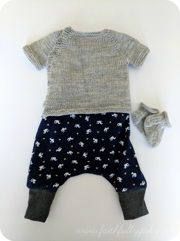 Wee Short Notice  (sweater),  Harem Romper ,  Rose City Rollers Littles  (socks)