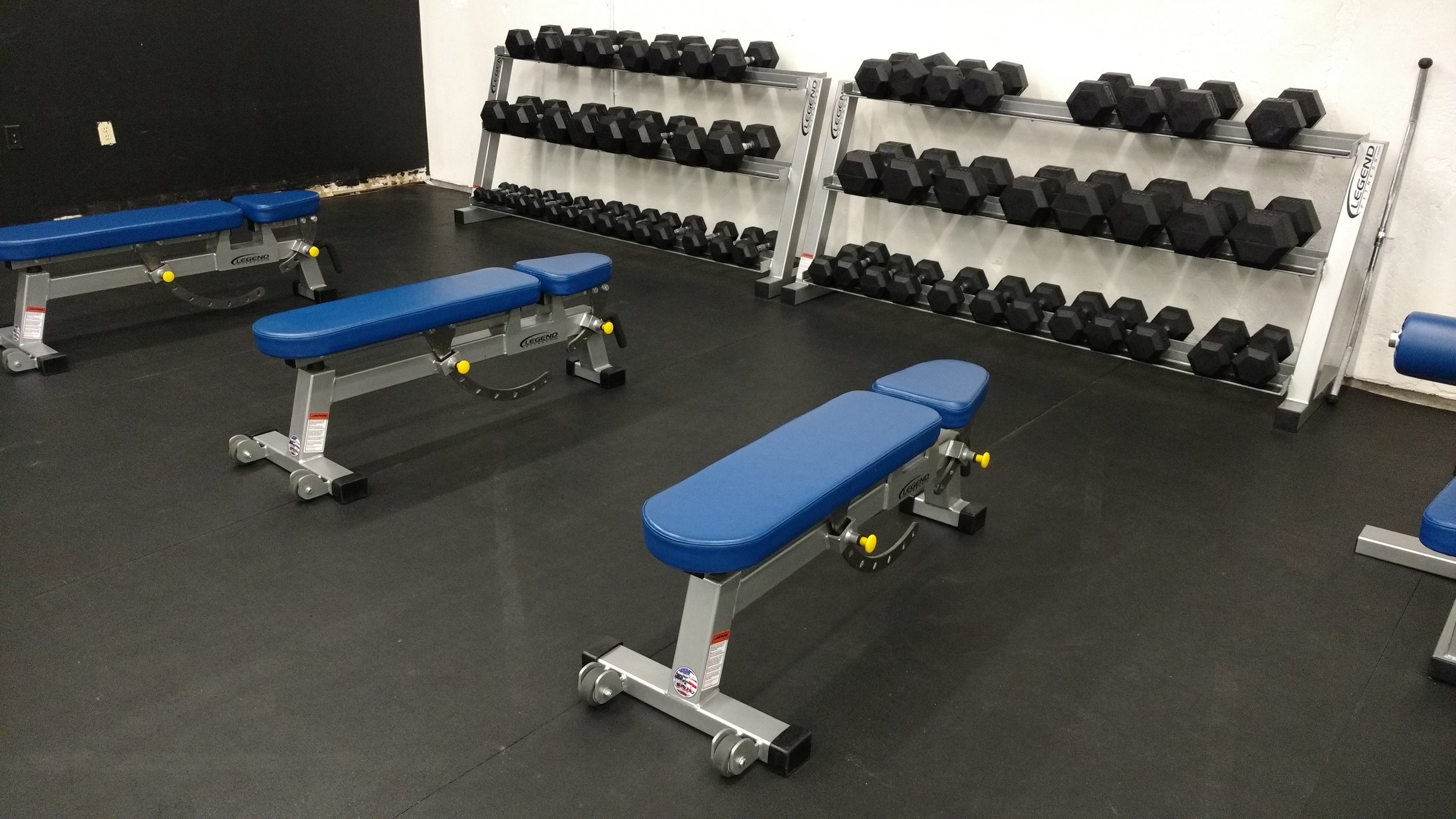 Legend Adjustable Benches & York Dumbbells 5-100 lbs