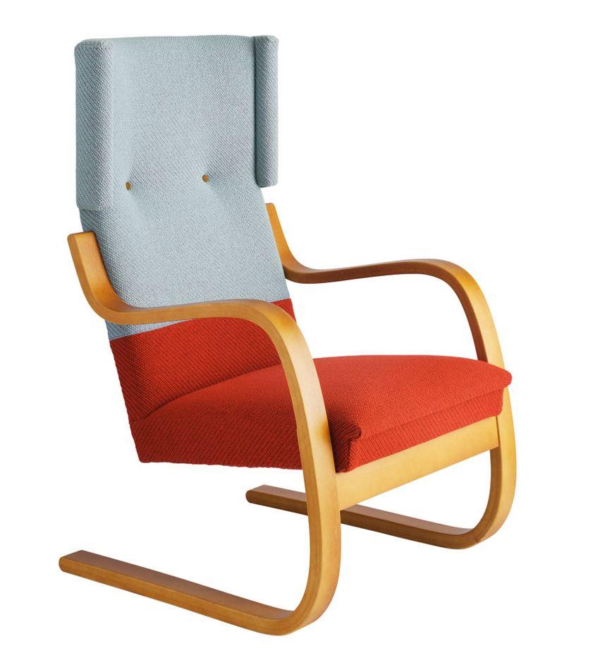 Armchair 401 by Hella Jongerius Artek, designby Alvar Aalto, 1933