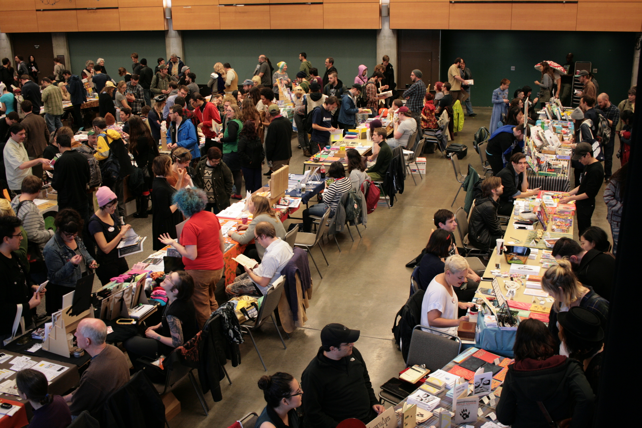 One side of the room. Chaos, beautiful comic chaos.