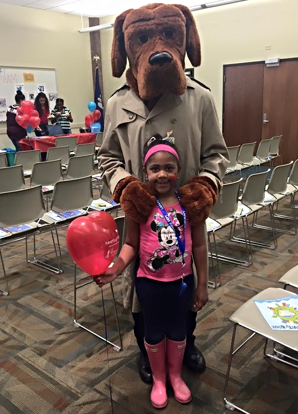 McGruff and Lyric Joseph for the 1st annual Child Abuse Awareness event