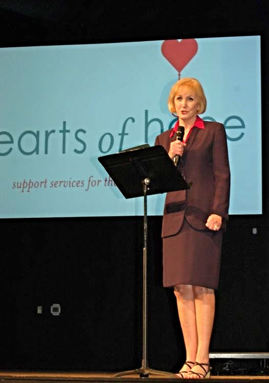 Blue Rolfes speaks at Hearts of Hope event