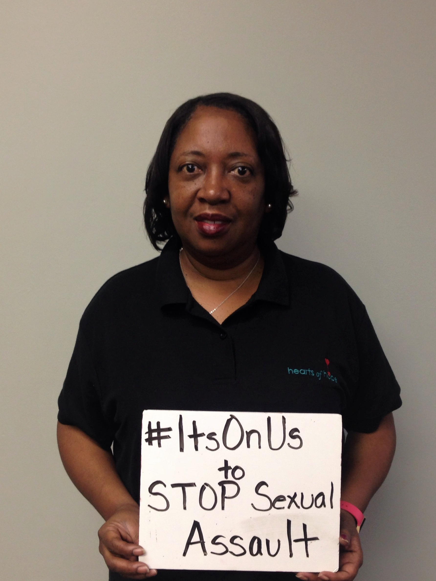 Our ED Assistant, Shirley Charles takes stand for #SAAM