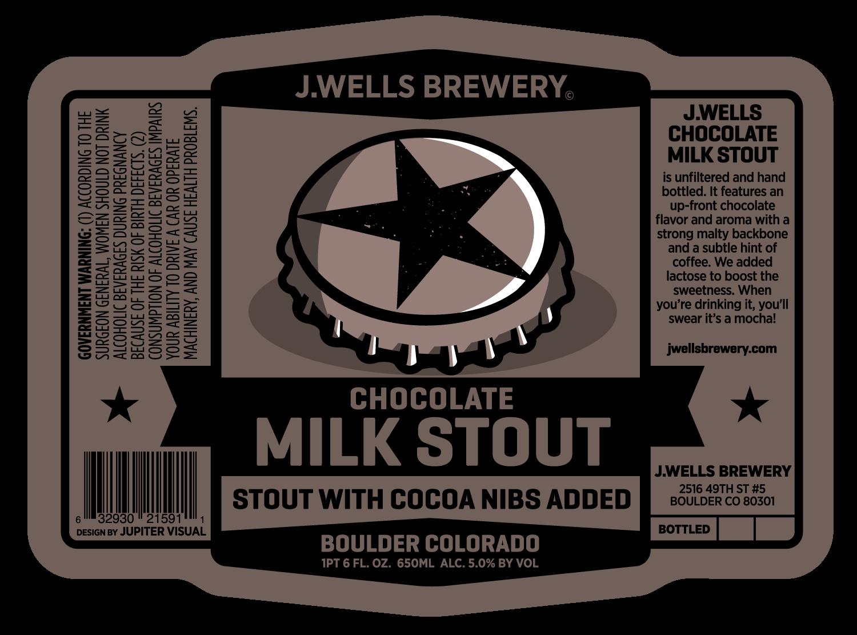 J. Wells Milk Stout Label