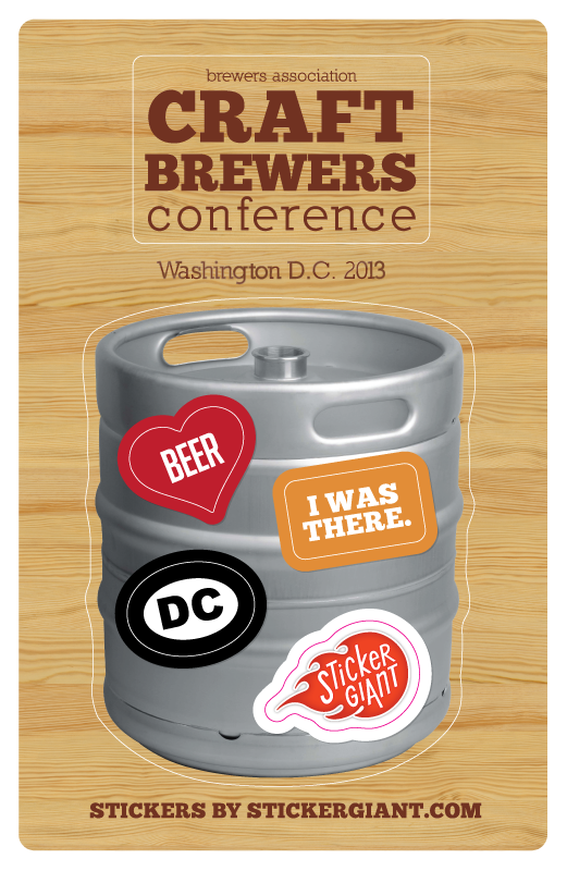 Sticker design for  Craft Brewers Conference