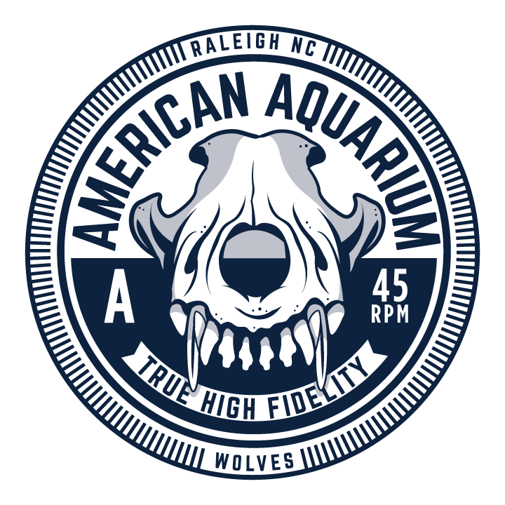 New vector t-shirt design for Raleigh NC band American Aquarium for the upcoming release oftheir new album Wolves. Check them out  here .