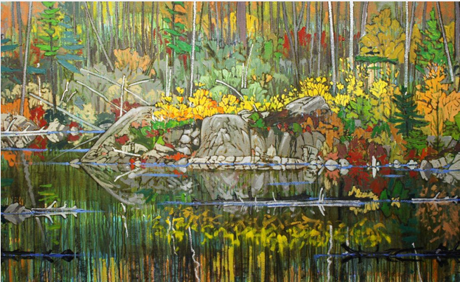 Ted Godwin, Canadian landscape, ponds, Autumn, Thanksgiving
