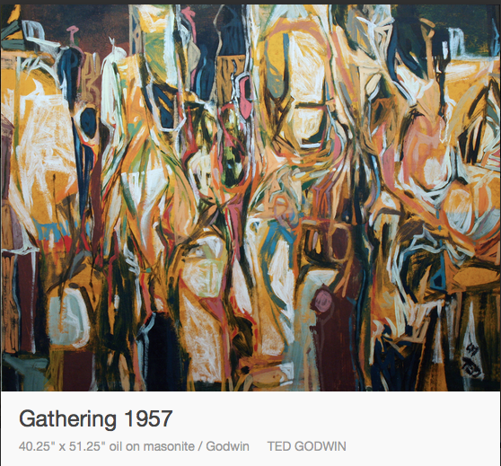 Ted Godwin, Gathering, 1957, Abstract, Abstraction