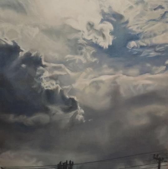 clouds, sublime, transcendence, God, power, oil, painting, glazed, Kathy Bailey, Kathy, Marlene, Bailey, storm, forboding, Canada, Canadian, Landscape, faith, Christian, Christianity, spiritual, spirituality, relationship to God, OPA.jpg