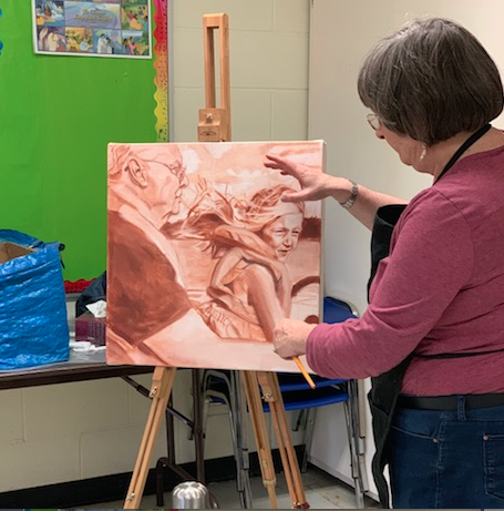 2019, Canadian Glaze Oil Society, CGOS, President, Kathy Marlene Bailey, Kathy Bailey, Kathy, Bailey, K.M. Bailey, Kathy M., Classes, Teaching, Instruction, Portraiture, Renaissance, Techniques, Methods, Ontario, Canada, North America, Grisaille, Understudy, underpainting, classroom, Mississauga, Clarkson, Grisaille.jpg