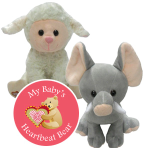 Quality plush that saves the sound of your baby's heart beat inside... - Only $29 Add to any Ultrasound Session.Original Price without ultrasound $39.99