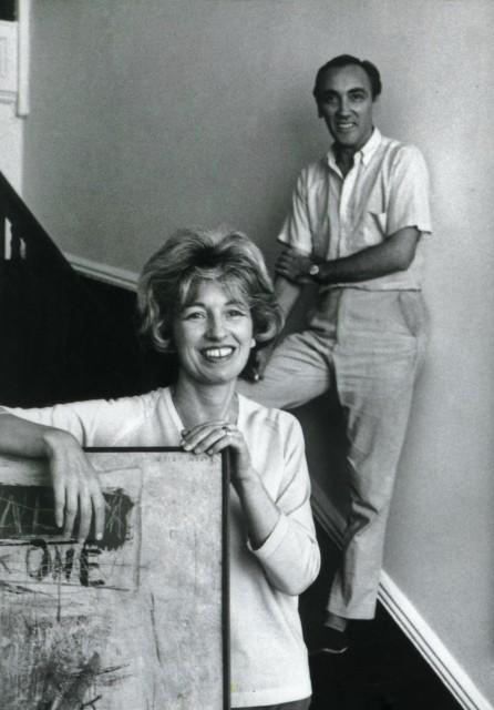 Sarah Grilo and her husband José Antonio Fernández-Muro in their studio. New York, 1964.  Photo: © Henry Grossman for LIFE® Magazine