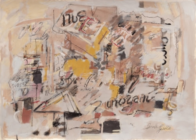 Untitled ( 1998), mixed media on paper / Galerie Lelong & Co., Paris