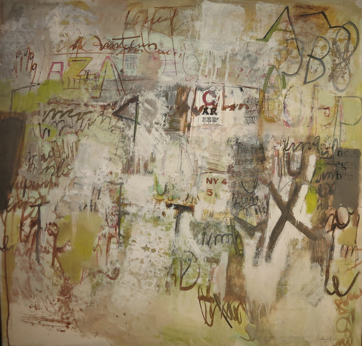 NY4 ( 1967), óleo sobre tela / Galería Jorge Mara-La Ruche, Buenos Aires