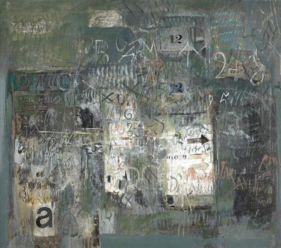 Pared gastada  (1969), óleo sobre tela / Galería Jorge Mara-La Ruche, Buenos Aires