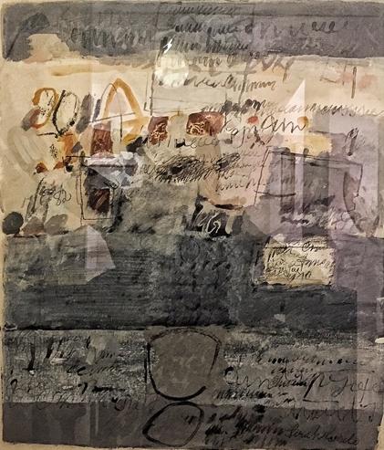 Sin título (1982), óleo y tinta sobre papel / Galería Jorge Mara-La Ruche, Buenos Aires