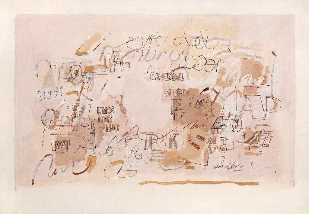 Sin título  (1991), Oil on paper / Galerie Lelong & Co., Paris
