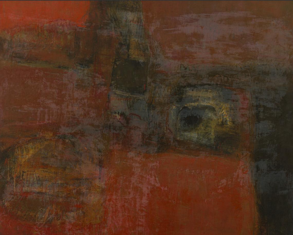 Sarah Grilo.  Profunda percusión , 1962. Oil on canvas. 128 x 160 cm.