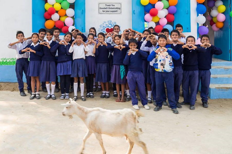 Globetrotting for Good.  Parijat Academy, Guwahati, India