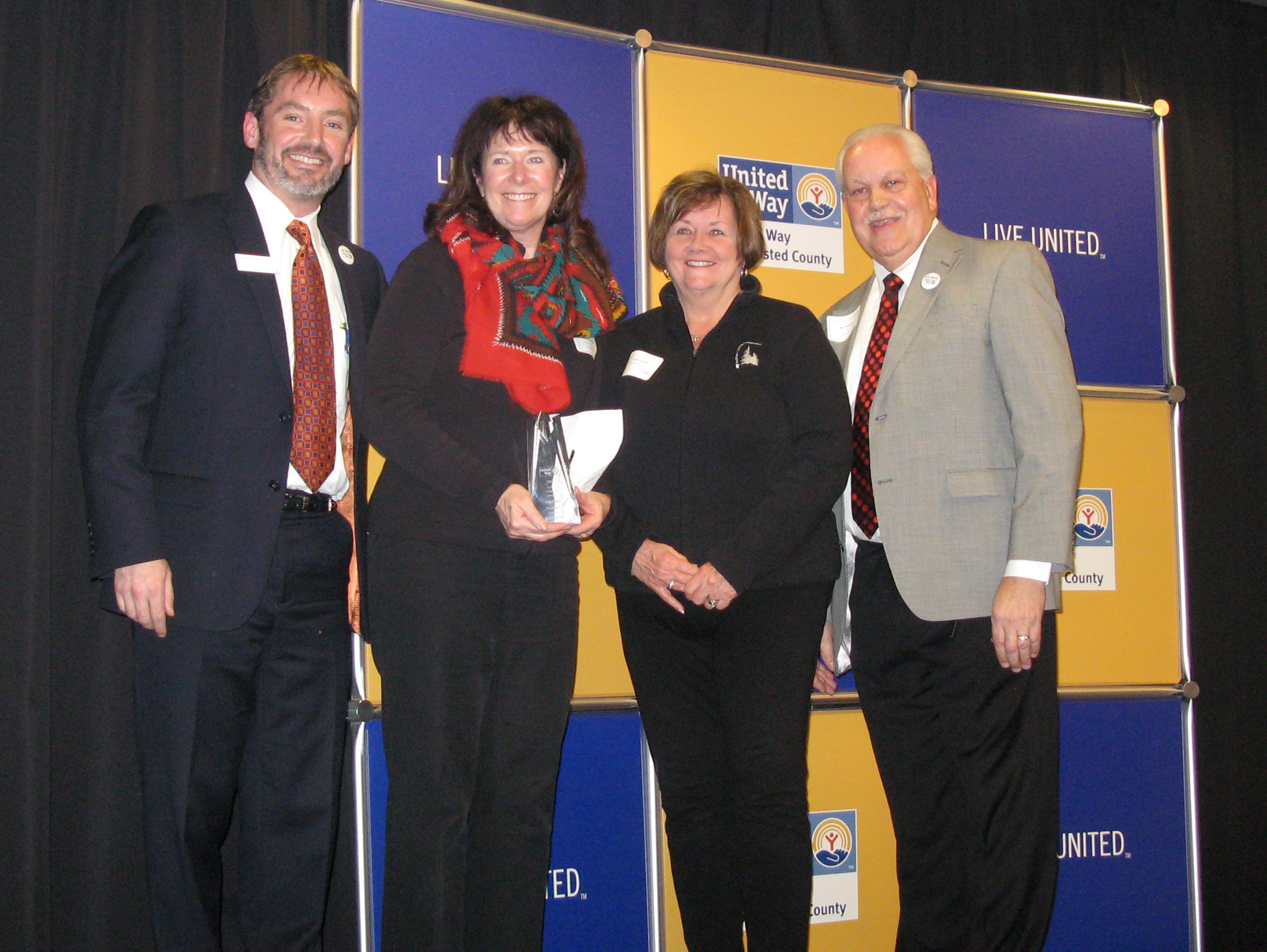 Photo: Award presented to Southeast Service Cooperative /United Way