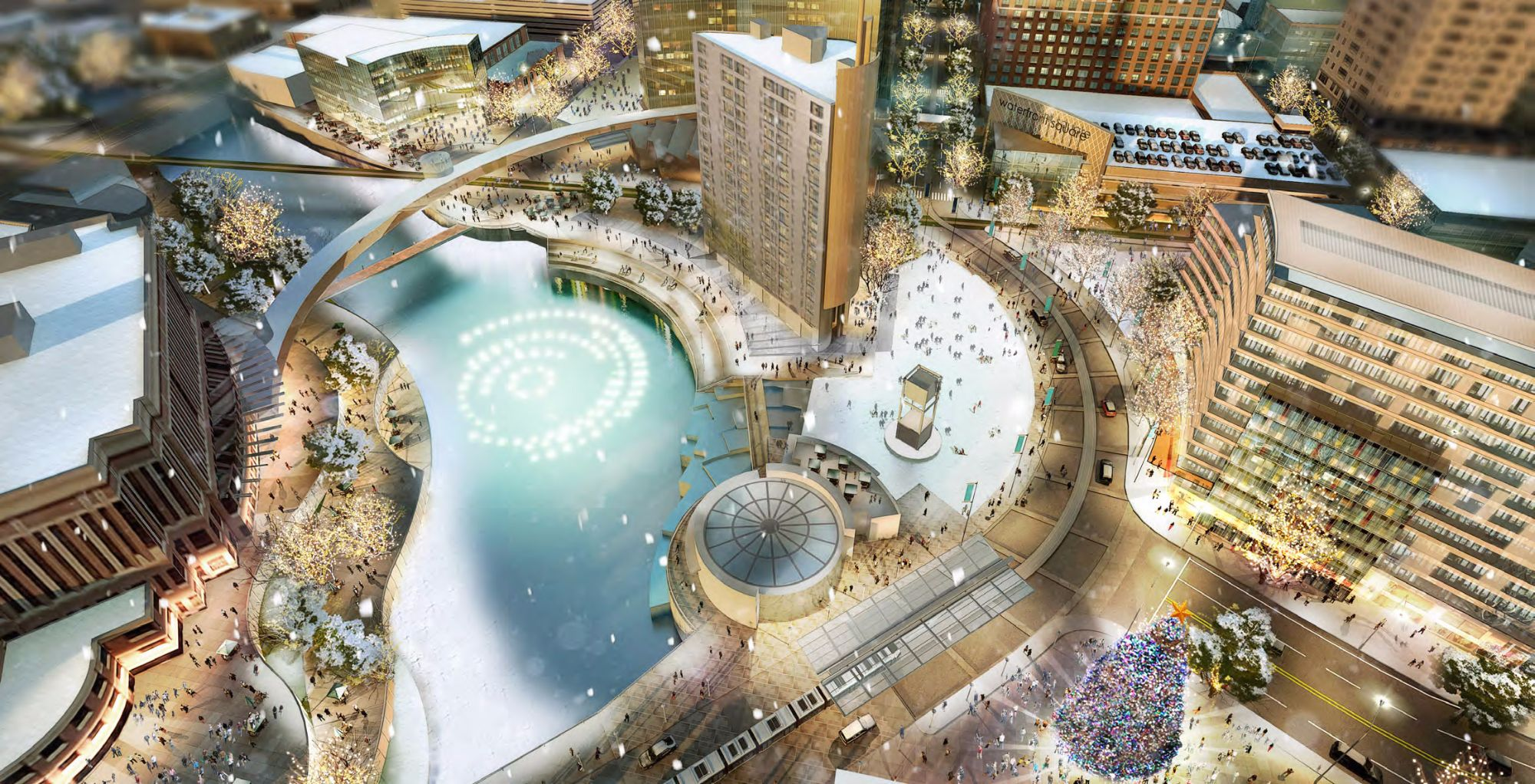Graphic: Rendering of downtown waterfront / DMC Development Plan