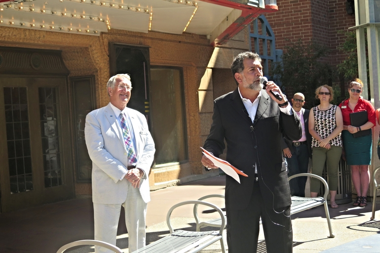 Left to right: Mayor Brede and Gregory Stavrou / 2015/ Photo by Sydney Flottum