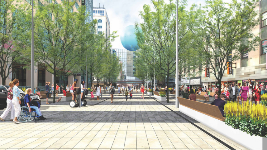 Rendering / First Avenue SW facing north