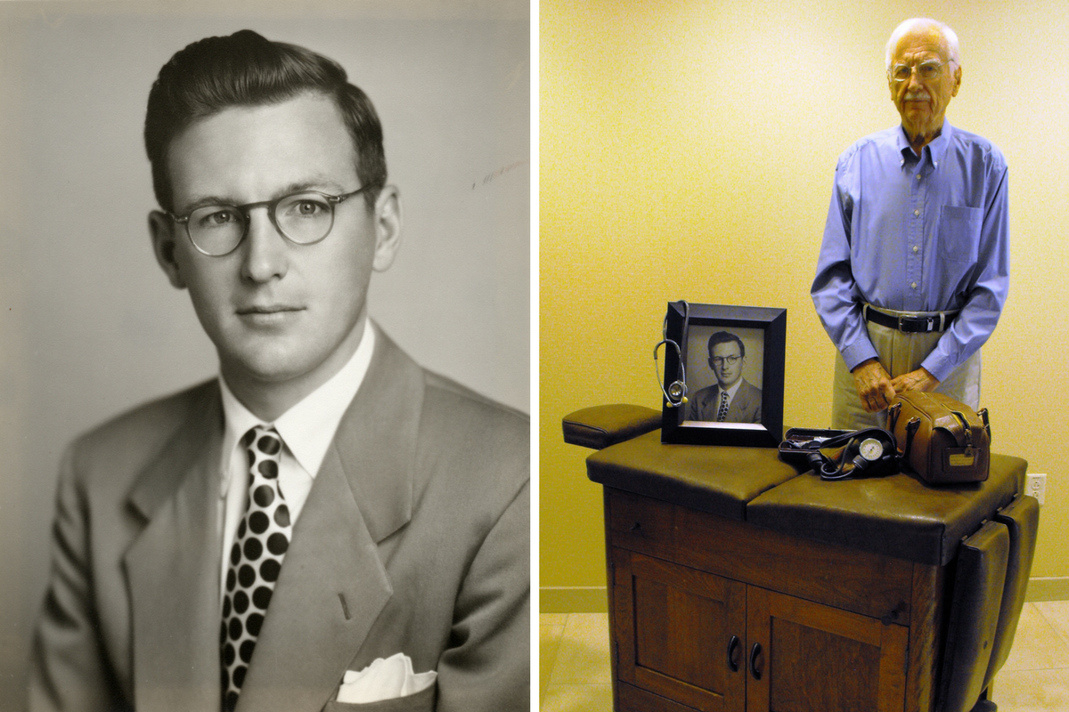 Dr. Wente was 27 when he opened his first solo practice in 1949. He died in 2015 at the age of 92. / Courtesy OMC