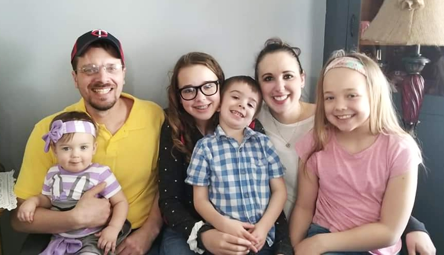 Amber and her family / Submitted