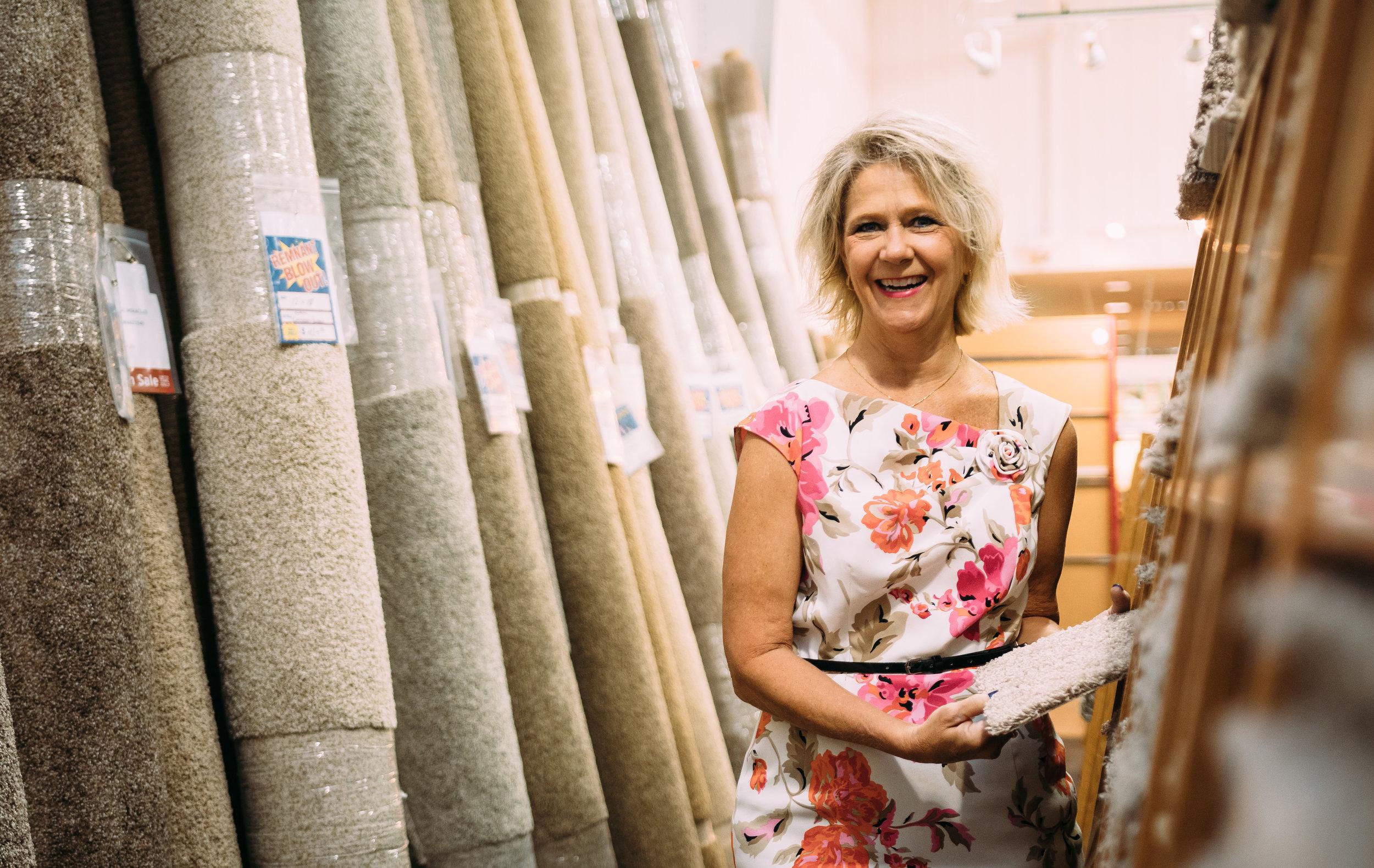 Carpet One flooring consultant Cindy Wills