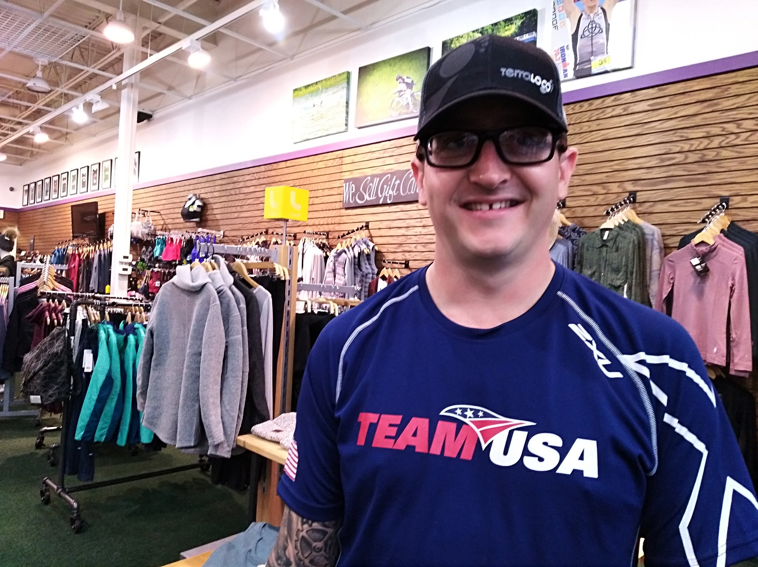Michael is now a brand ambassador for TerraLoco sports shop in Rochester